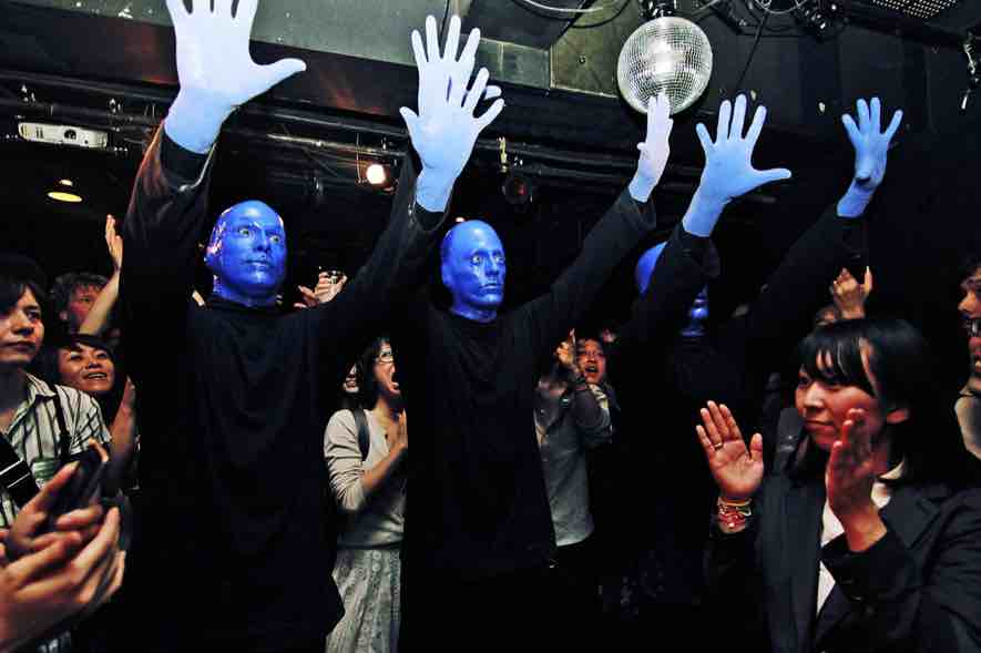 New York's Blue Man Group join Saiko in Tokyo